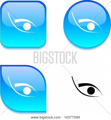 Eye glossy vibrant web buttons.