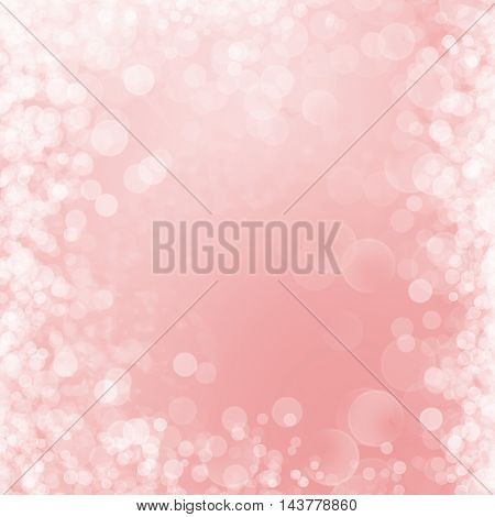 Background - Pink glowing Abstract Glitter Defocused Background With Blurred Bokeh