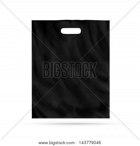 Blank plastic bag mock up isolated 3d illustration.