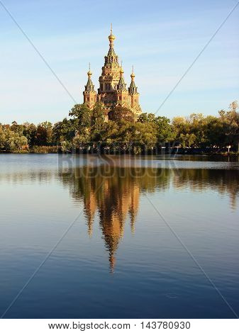 Cathedral of Saints Peter and Paul. Peterhof. Russia.