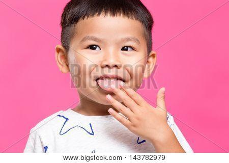 Little boy looks yummy