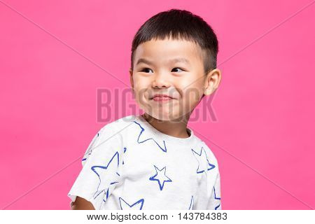 Chinese young kids smile