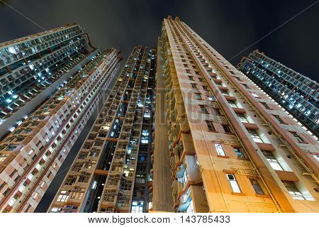Tall building to the sky at night