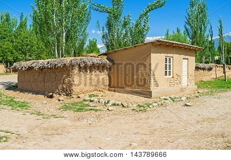 The small earthen house in the kishlak (village) of Samak Uzbekistan.