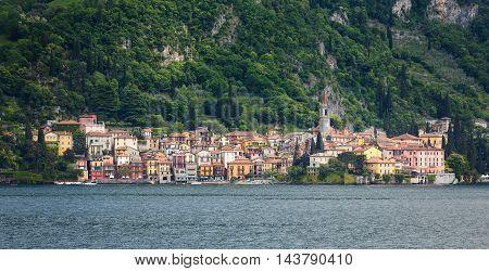 Cityscape of Varenna on Lake Como Italy