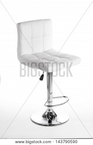 White modern bar Chair isolated on white background