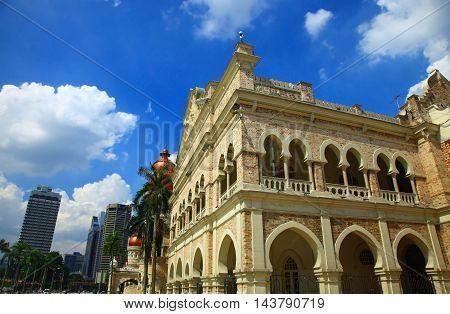 Sultan Abdul Samad Building, Kuala Lumpur. Cloudy Sky.