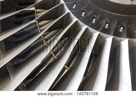 Blades In An Airplane Engine