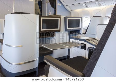Business Class In An Airplane