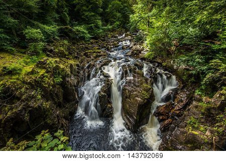 The waterfalls (Black Linn) at the Hermitage in Perthshire, Scotland