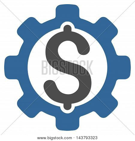 Payment Options icon. Vector style is bicolor flat iconic symbol with rounded angles, cobalt and gray colors, white background.