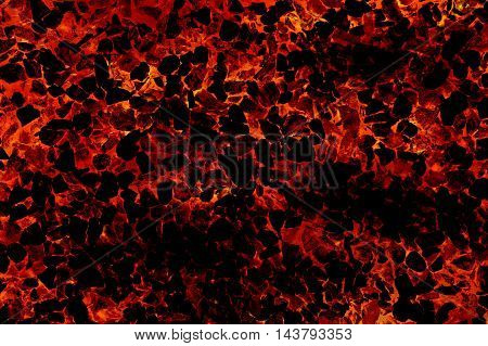 art fire lava on crack stone pattern illustration background