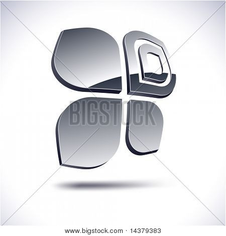 Abstract modern 3d butterfly  emblem. Vector.