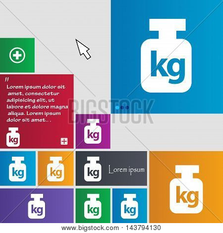 Weight Icon Sign. Buttons. Modern Interface Website Buttons With Cursor Pointer. Vector