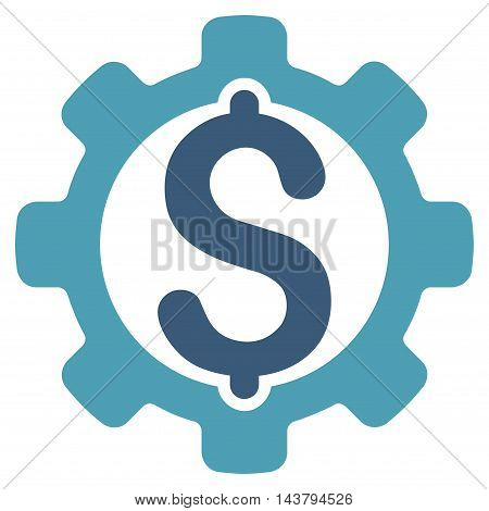 Payment Options icon. Vector style is bicolor flat iconic symbol with rounded angles, cyan and blue colors, white background.