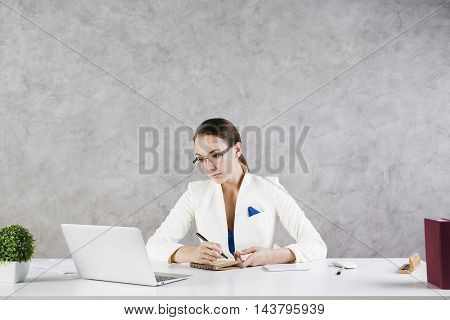 Businesswoman Working On Project