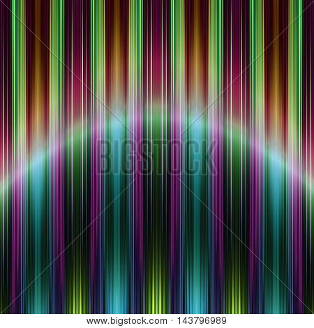 Blue and green speed stripes background with curve