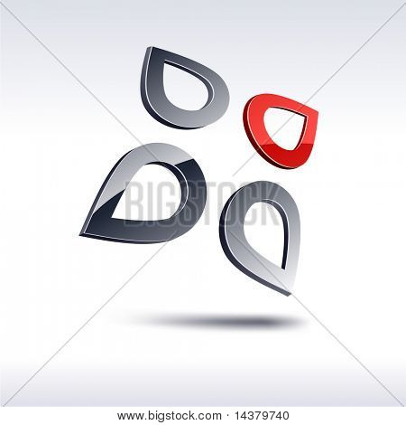 Abstract modern 3d emblem. Vector.