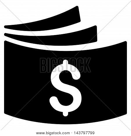 Checkbook icon. Vector style is flat iconic symbol with rounded angles, black color, white background.