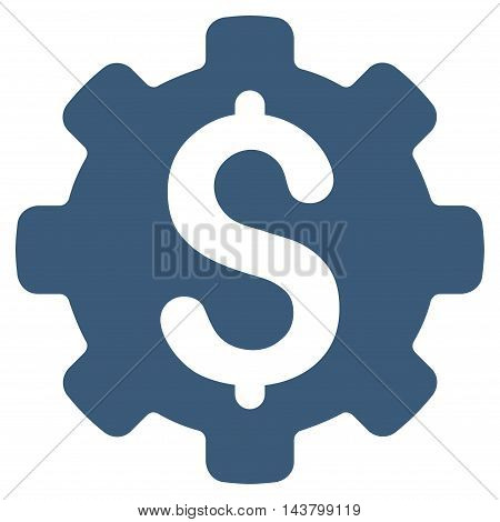 Industrial Capital icon. Vector style is flat iconic symbol with rounded angles, blue color, white background.