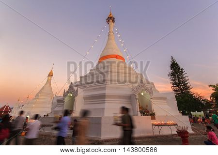 Wat Phra That Doi Kong Mu temple Mae Hong Son Thailand.