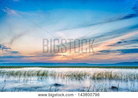 Sun Setting Over Hawassa Lake