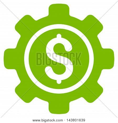 Financial Tools icon. Vector style is flat iconic symbol with rounded angles, eco green color, white background.