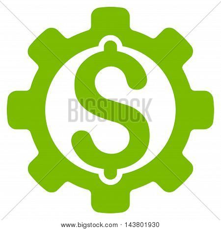 Payment Options icon. Vector style is flat iconic symbol with rounded angles, eco green color, white background.