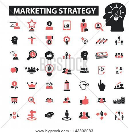 marketing strategy icons