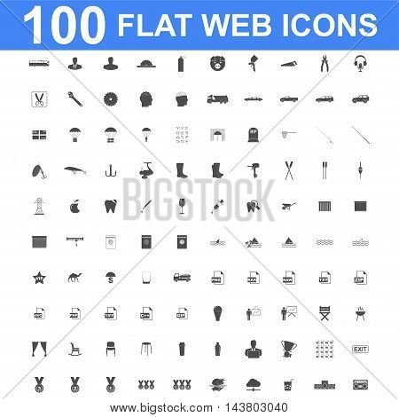 100 Icon set. Vector concept illustration for design.