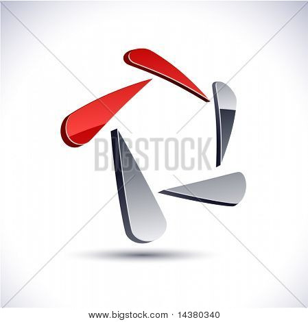 Abstract modern 3d pentagonal vector emblem  such logos.