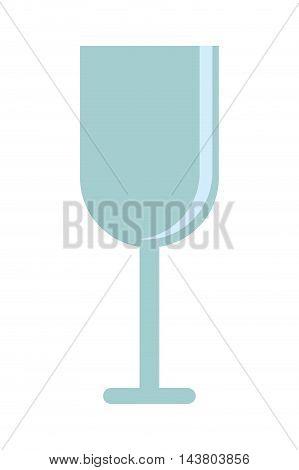 flat design alcoholic drink glass icon vector illustration