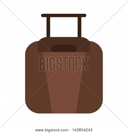 flat design travel suitcase icon vector illustration