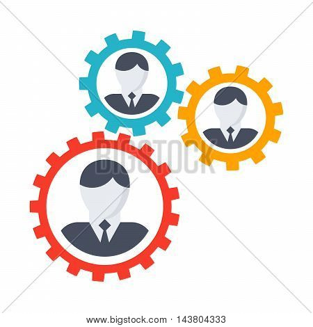Vector illustration with business people teamwork concept.