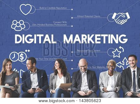 Affiliate Digital Marketing Concept