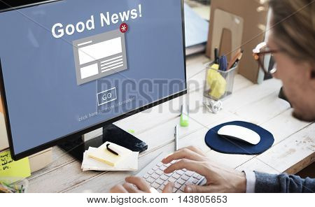Goods News Announcement Broadcast Article Concept