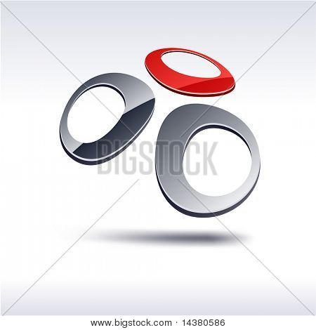 Abstract 3d vector icon such logos.