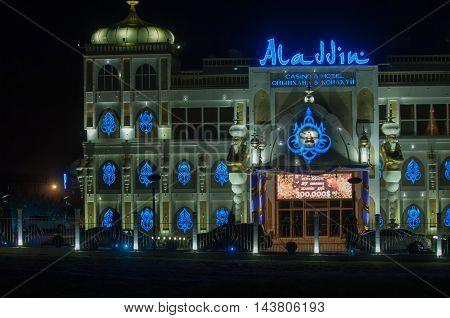 Kazakhstan. Kapchagay city. 2014 07 14. Aladdin Casino