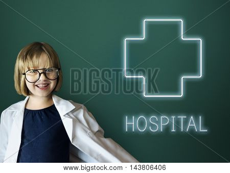 Hospital Cross Health Treatment Icon Graphic Concept