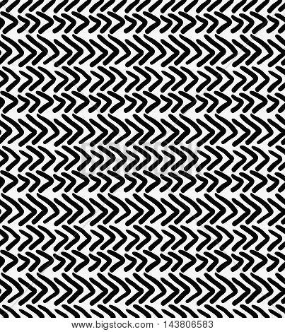 Black Marker Drawn Simple Chevrons
