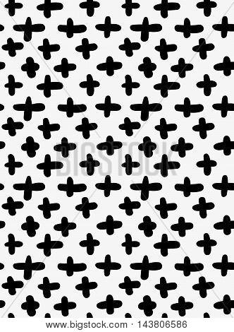 Black Marker Drawn Simple Crosses