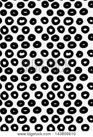 Black Marker Drawn Simple Donuts