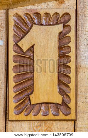 beautiful figure carved in wood for the design