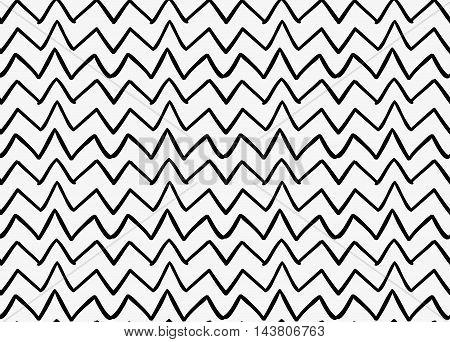Black Marker Drawn Simple Uneven Zigzag