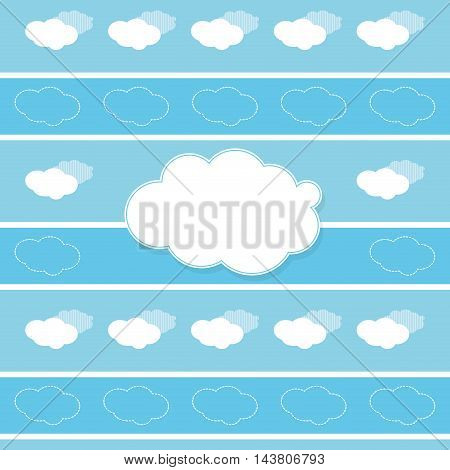 flat design cloud shape pattern icon vector illustration
