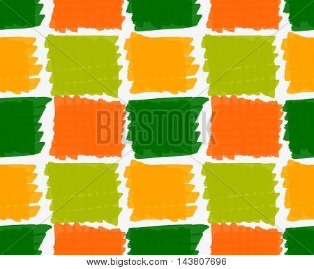 Marker Drawn Hatched Green And Orange Squares