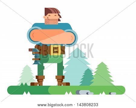 Robber man character. Isolated flat vector illustration