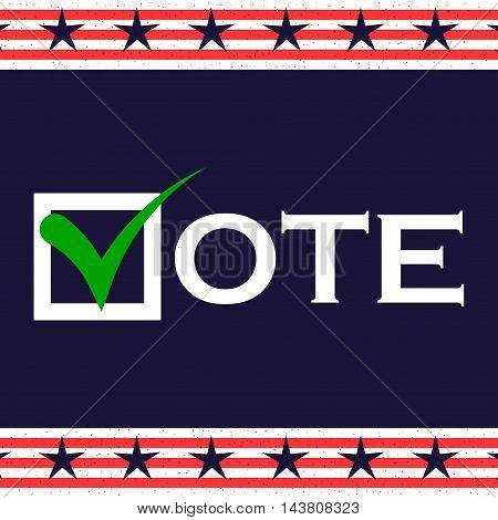 US 2016 Presidential Election background. Voting poster. US presidential voting. Vector background.
