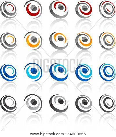 Vector illustration of round symbols.