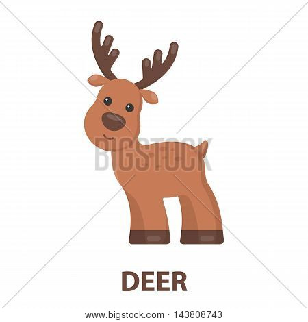 Deer cartoon icon. Illustration for web and mobile.